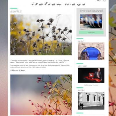 Home page del sito Italian Ways, che mostra una raccolta di fotografie di Eleonora Di Mauro